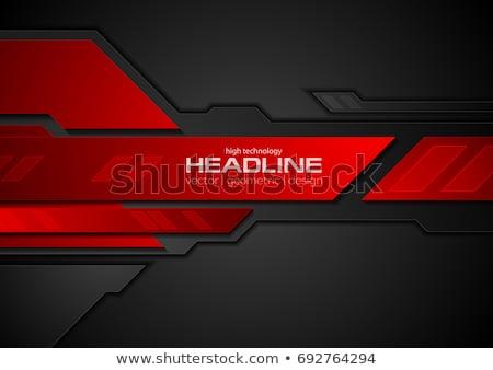 темно красный аннотация Tech геометрический вектора Сток-фото © saicle