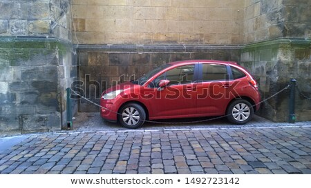 Red car parked by the wall Stock photo © bluering