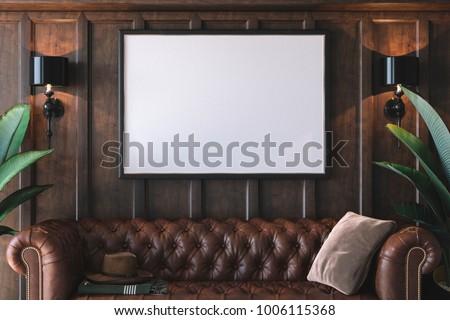Galeri iç boş çerçeve ışıklar arka plan Stok fotoğraf © SArts
