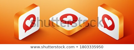hearts red background template vector design illustration Stock photo © SArts