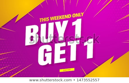 promotional offer sale banenr template for marketing Stock photo © SArts