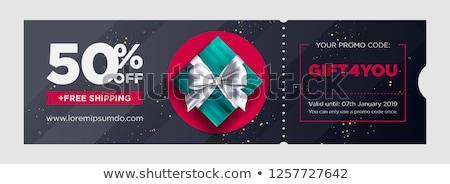 Elegáns modern vásár árengedmény utalvány sablon Stock fotó © SArts