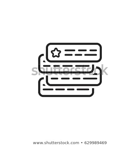 Ad Auktion Symbol Design isoliert Illustration Stock foto © WaD