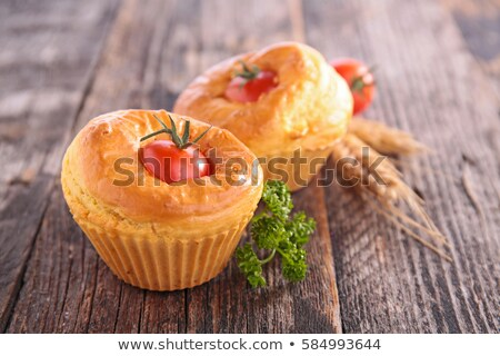 cherry tomato muffin, snack-appetizer Stock photo © M-studio