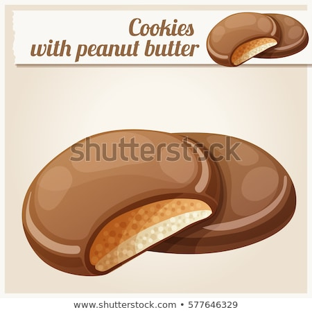 Chocolat couvert cookie arachide remplissage tasse Photo stock © Digifoodstock