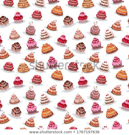 három · esküvői · torta · étel · asztal · rózsák · ünnep - stock fotó © gsermek