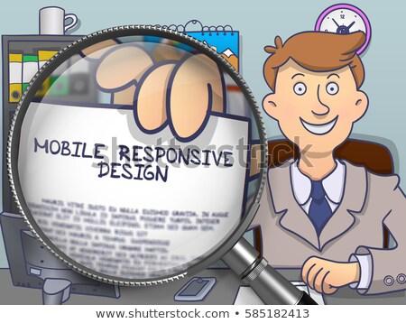Mobile Responsive Design through Magnifier. Doodle Style. Stock photo © tashatuvango