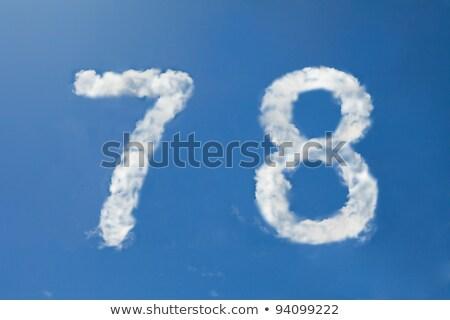 Numero nube carattere simbolo bianco alfabeto Foto d'archivio © popaukropa