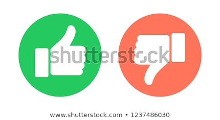 modern thumbs up and thumbs down icons stock photo © nezezon