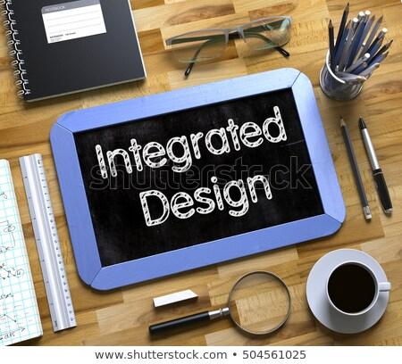 Small Chalkboard with Integrated Design Concept. 3D. Stock photo © tashatuvango