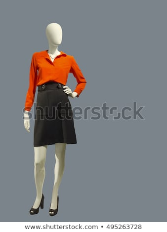 Female mannequin dressed in colorful skirt and blouse Stock photo © gsermek