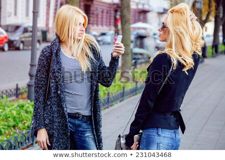 friends taking photos of each other stock photo © is2