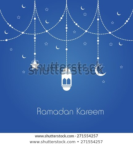 eid festival greeting with hanging lantern Stock photo © SArts