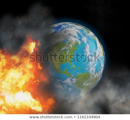 state of emergency with world globe focused at north america wit Stock photo © Wetzkaz