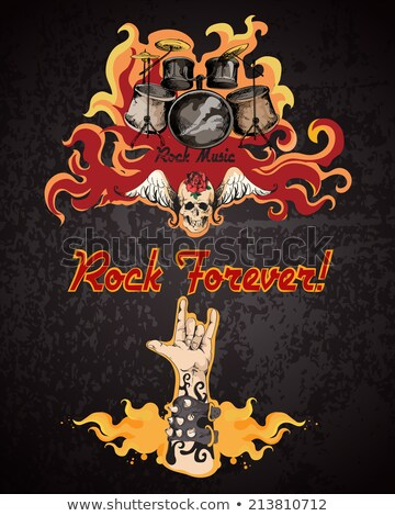 Rock-And-Roll Forever Colorful Illustration Set Stock photo © robuart