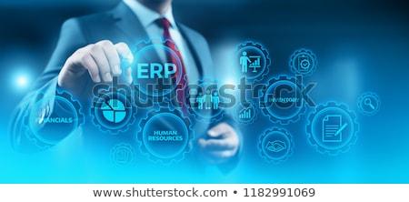empresa · recurso · planejamento · tecnologia · carta - foto stock © olivier_le_moal