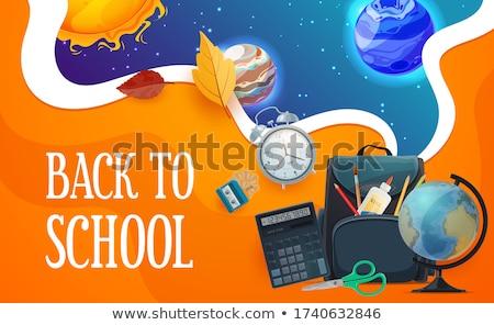 geri · paketlemek · örnek · okul · nesne · dışarı - stok fotoğraf © robuart