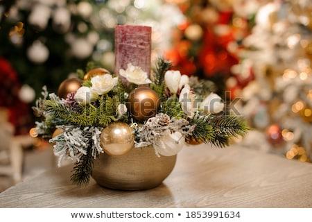 christmas shiny ball made with golden sparkles Stock photo © SArts