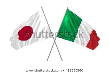 2 フラグ イタリア 日本 孤立した ストックフォト © MikhailMishchenko