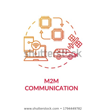 exchange round linear icon for online commerce stock photo © robuart