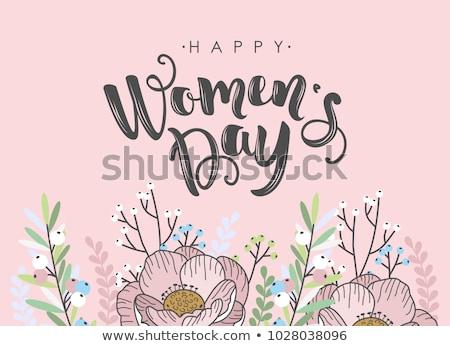 Foto stock: Elegante · feliz · día · de · la · mujer · mujeres · fondo · belleza