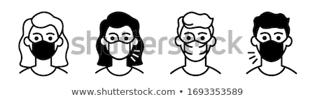bactery icon on a black and white background stock photo © imaagio