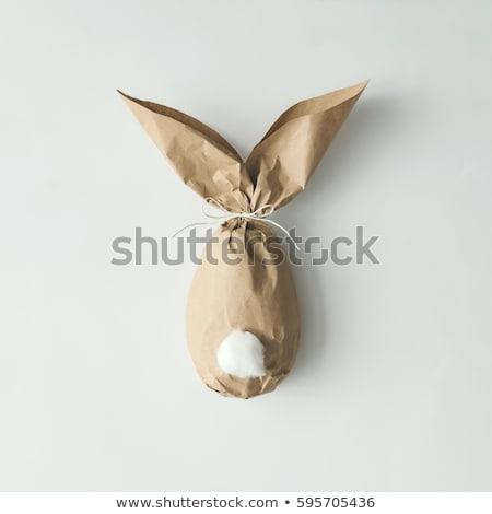 cute handmade easter eggs Stock photo © nito