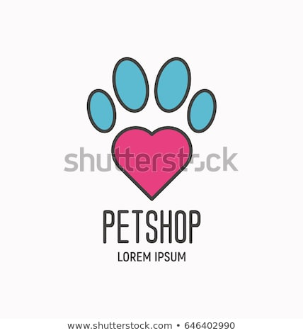 color vintage animal shelter emblem Сток-фото © netkov1