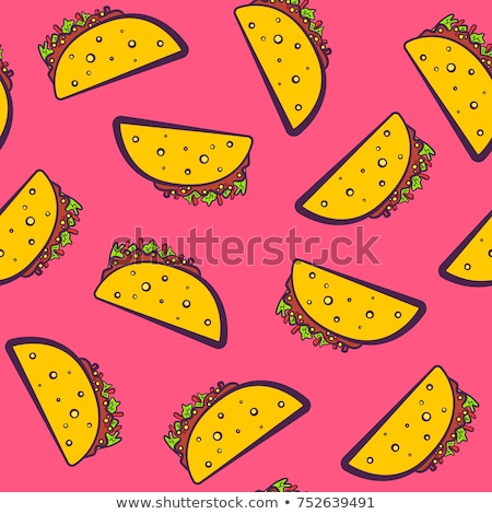 Seamless pattern color taco Stock photo © netkov1