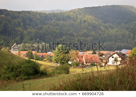 frame house in Southern Germany Stock photo © prill
