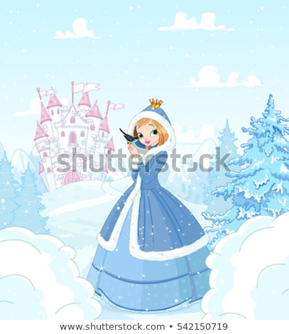 fairytale castle of the princess on the background of the winter stock photo © liolle