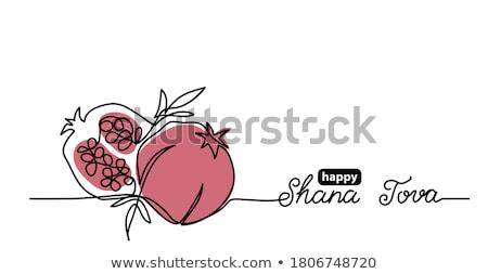 Banner felice dolce capodanno ebraico modello Foto d'archivio © nosik