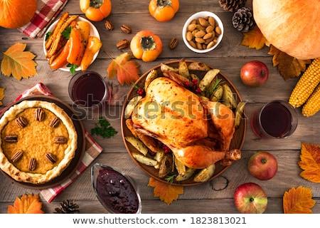 tyúk · zöldbab · kukorica · zöldség · étel · edény - stock fotó © furmanphoto