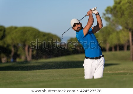 Golf player in sand trap. Stock photo © lichtmeister