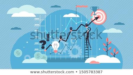 Affaires statistiques ventes données élément Photo stock © RAStudio