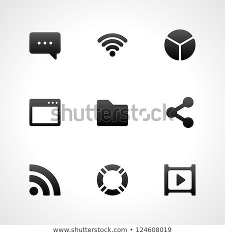 Negócio infográficos wi-fi ícone 3D cinza Foto stock © rwgusev