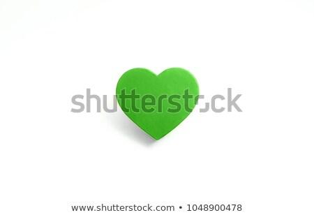 Levél szív fehér képeslap esküvő virágmintás Stock fotó © odina222