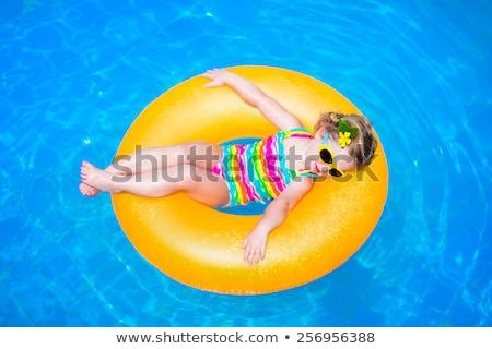 Cute смешные мало девушки Бассейн Сток-фото © Lopolo