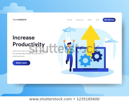 productivity landing page template foto d'archivio © rastudio