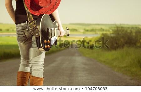 小さな · ミュージシャン · 友達 · 光 · 金属 - ストックフォト © lopolo