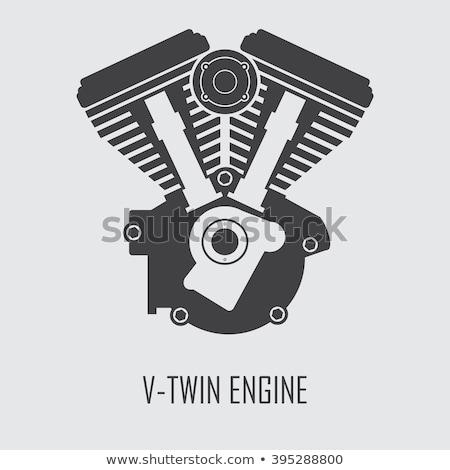 Moto motore icona vettore isolato bianco Foto d'archivio © smoki