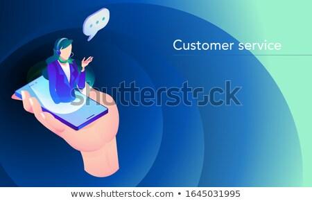isometric online vr customer support stock photo © -talex-
