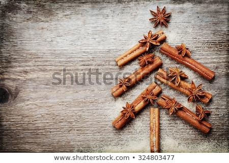 Photo stock: épices · Noël · carte · de · vœux · blanche