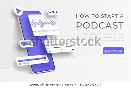 Voix discours formation leçon amélioration Photo stock © RAStudio