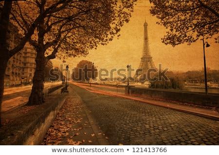 ストックフォト: エッフェル塔 · 銀行 · パリ · ランドマーク · 高い · フランス