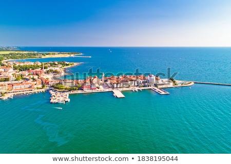 Stad historisch kustlijn architectuur luchtfoto archipel Stockfoto © xbrchx