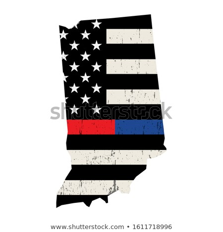 Indiana brandweerman ondersteuning vlag illustratie Amerikaanse vlag Stockfoto © enterlinedesign