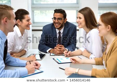 Team discussing new project Stock photo © jossdiim