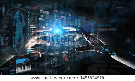 Robot Touching Human Finger Stock photo © AndreyPopov