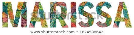 Női név vektor dekoratív tárgy művészet Stock fotó © Natalia_1947